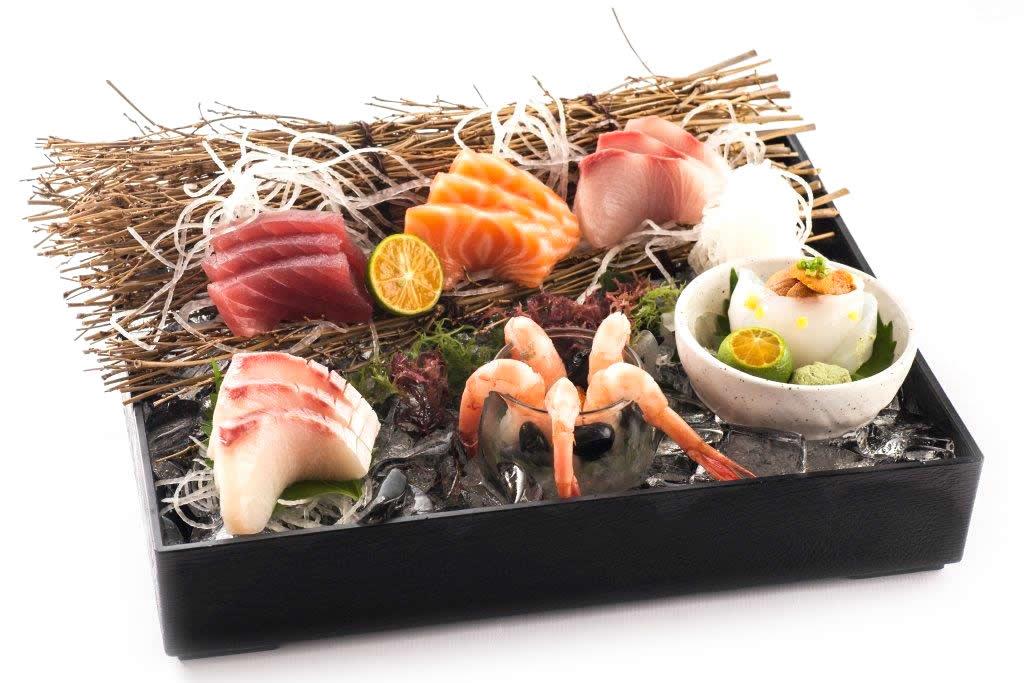 0-04 甜蝦七拼生魚片