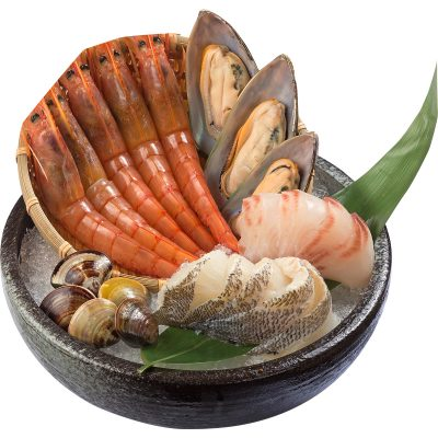 椒麻寒天海鮮鍋_海鮮盤